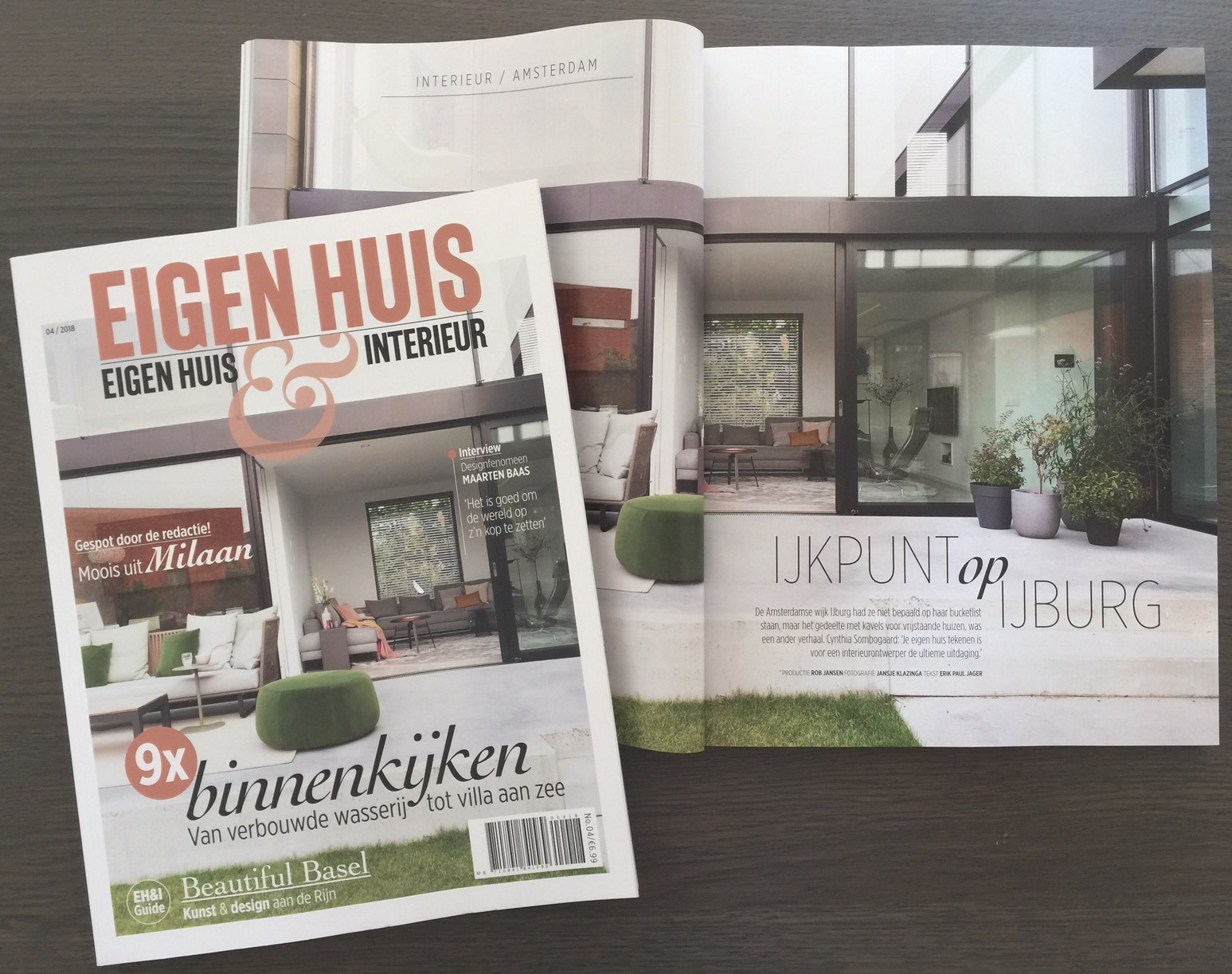 Villa CS op de cover magazine Eigen Huis & Interieur – Interior Design